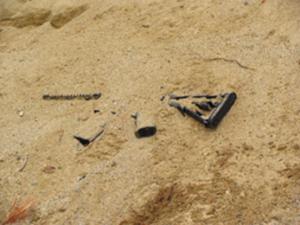 Buried gun
